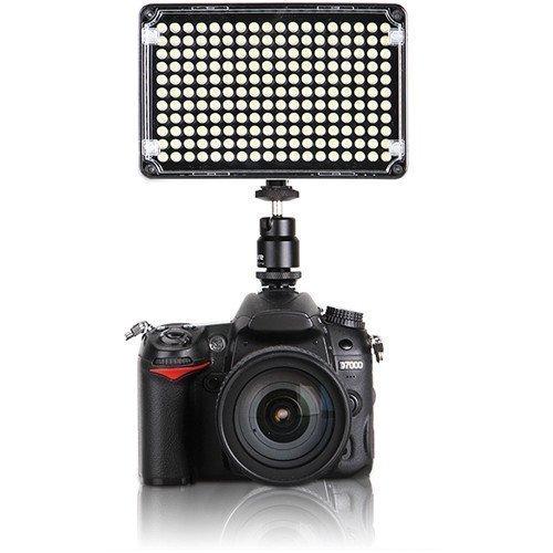 Black On-Camera Bicolor Temperature Light Aputure H198c Amaran CRI 95